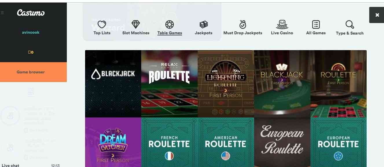 Top mobile casino games